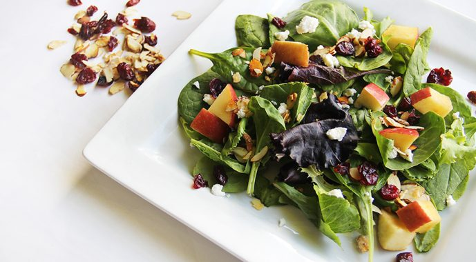 Salad - a healthy food that is good for teeth