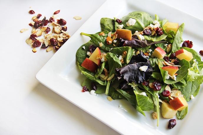 Salad - a healthy food that is good for teeth