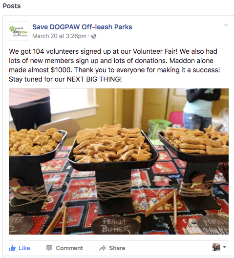 Dogpaw Facebook Post