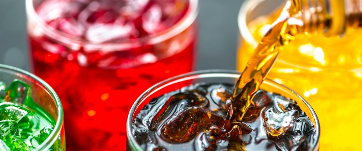 Colorful sodas