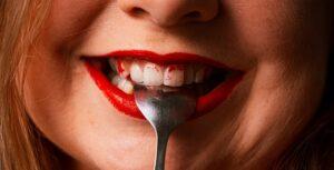 Lipstick on Teeth